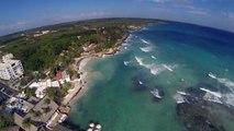 Qav500@Boca Chica 1st fpv flight raw video