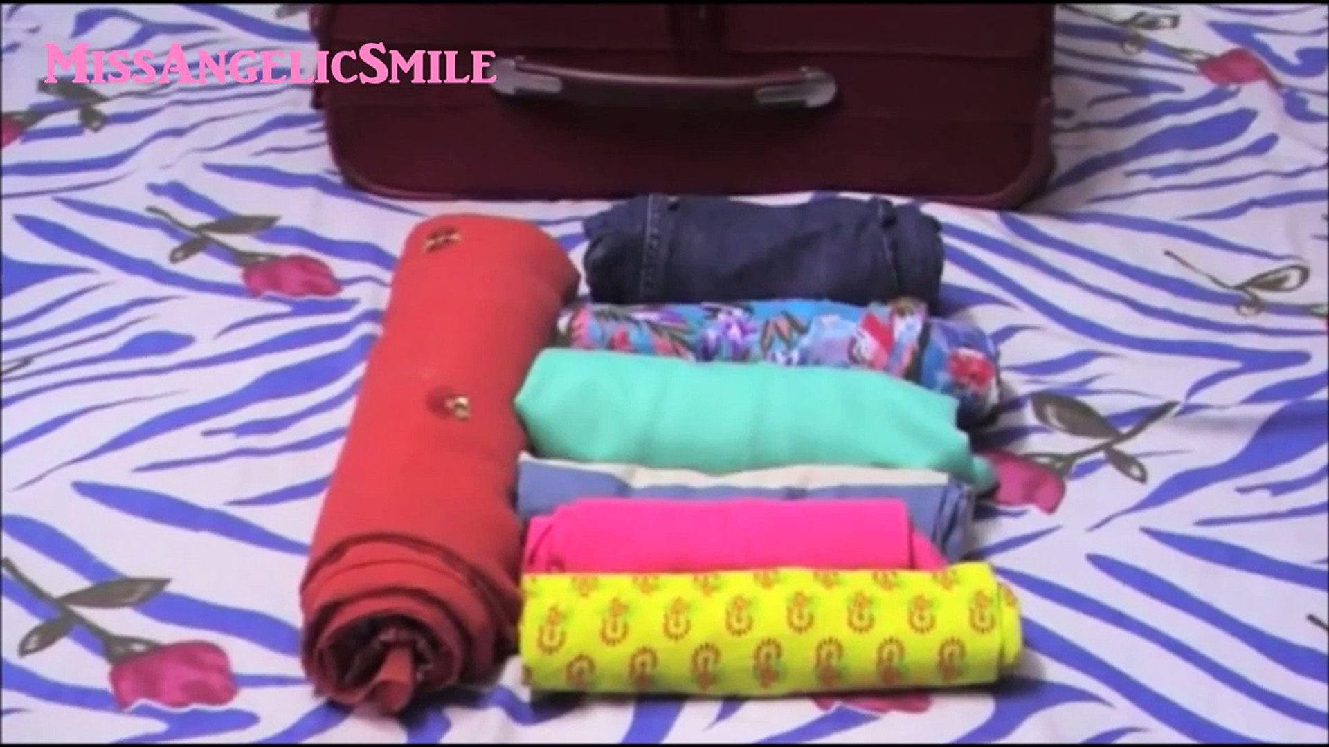 Travel - Packing Tips & Tricks: How to Roll clothes to Maximize Luggage Space | MissAngelicSmile