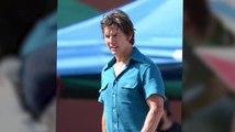 A Bleeding Tom Cruise Films Airplane Crash Scene for Mena