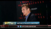 Liam Neeson Has Been Named as the Most Liked Celebrity Endorser
