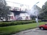 Brand in een flat in Enschede