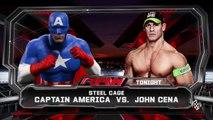 WWE 2K15 : Steel Cage John Cena VS Captain America