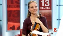 Julia Fischer  performs Ysaÿe, talks about her Grieg Piano DVD and Paganini CD
