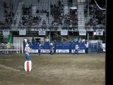 Bull Riding, Rodeo, Cody Stampede Rodeo, Stampede Park, Cody, Wyoming, United States, North America