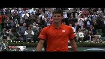 Novak Djokovic Greets Zlatan Ibrahimovic ~ Roland Garros 2015 ~
