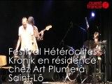 Kronik en résidence Art Plume : le groupe rennais y prépare son concert des Hétéroclites