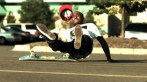 Slow motion skateboarding slams / bails / falls (1000 fps)