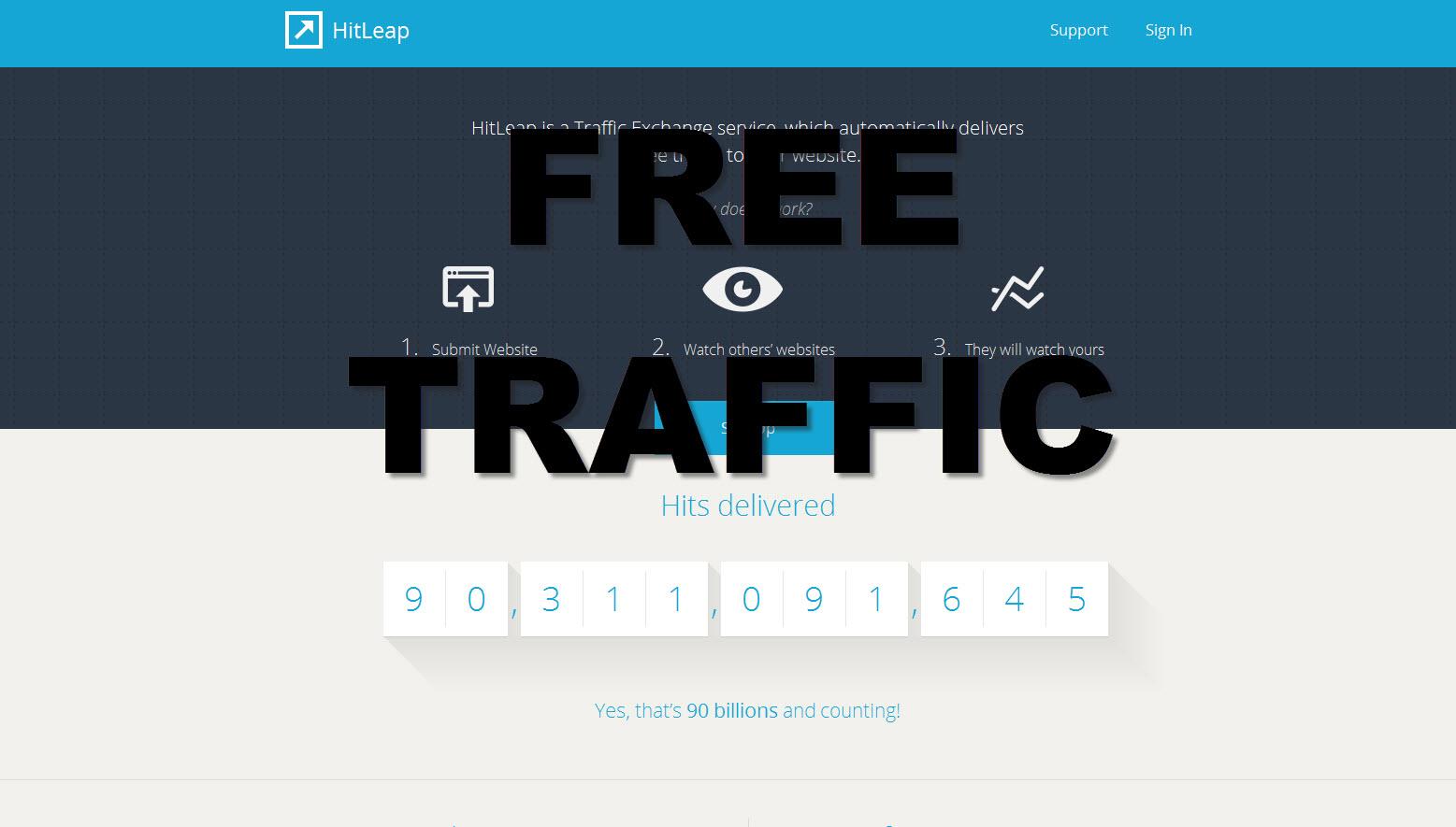 Hitleap free traffic exchange service