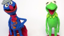 Kermit and Super Grover - Sesame Street | PLAY DOH | PLAY with CLAY