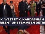 Kanye West et Kim Kardashian m�prisent une femme tomb�e � leurs pieds