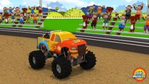 Numbers Counting Kids Learn to Count Disney Cars inspired Monster Trucks Toy Children Animation