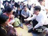 Chinese president Hu jintao in sichuan,earthquake areas