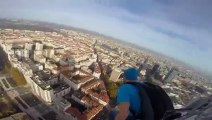 BASE Jump from high tower in france!