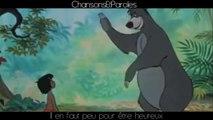 Le Livre de la Jungle - Il en faut peu pour être heureux - Paroles [HD] (fr)