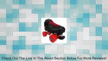 Riedell R3 Zen Outdoor Quad Roller Skates - - Roller Derby Skate w/Two Pairs of Laces (Black & Red) Review