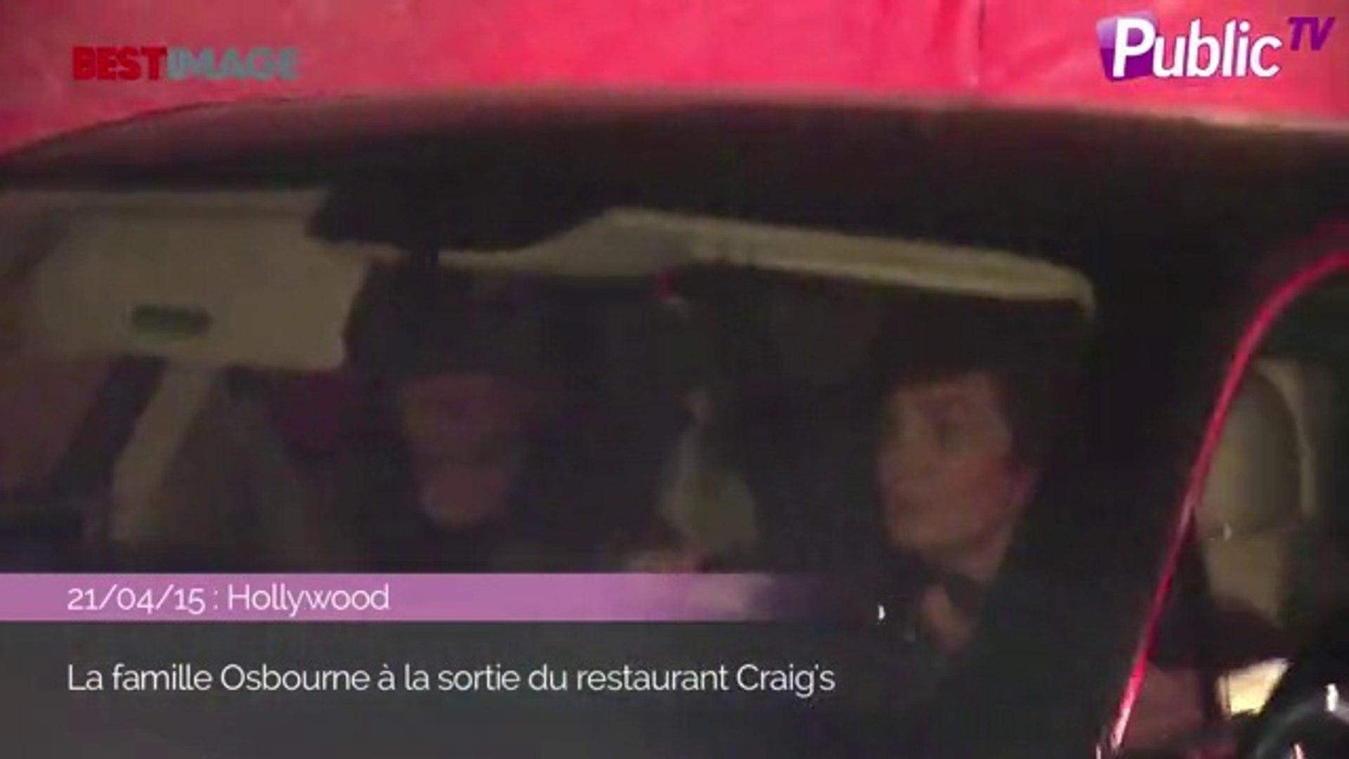 Exclu Vidéo : Kelly, Sharon, Ozzy... Virée nocturne et en famille pour les Osbourne !