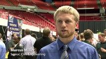 Students Look for Jobs, Internships at WSU Career Expo & CEA Technical Career Fair