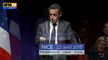 """Sarkozy: """"La fille de Le Pen dans le Nord et la petite-fille dans le Sud, ce n'est pas l'idée que je me fais de ce pays"""""""