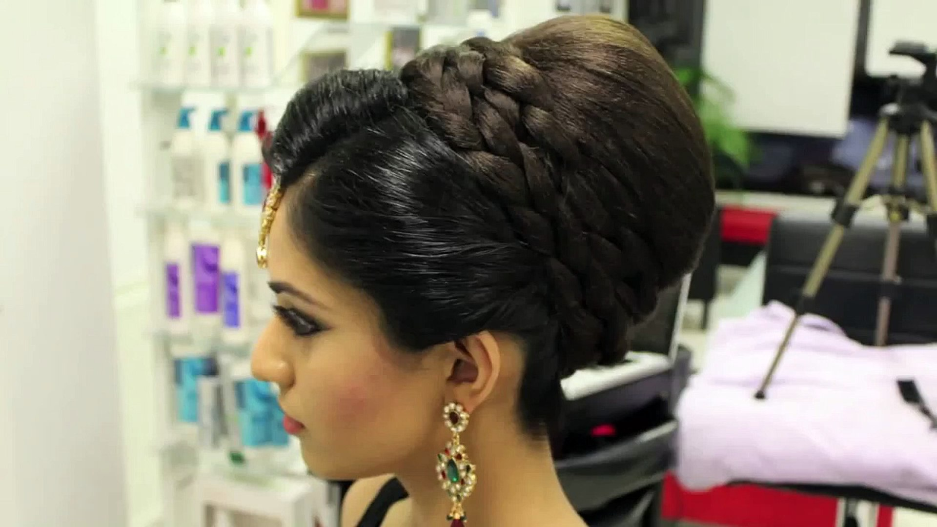 indian, pakistani, asian bridal hair style | tikka & dupatta setting tutorial | wedding hairstyles