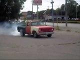 Burnout on  Dodge 440 Big Block Truck Fail