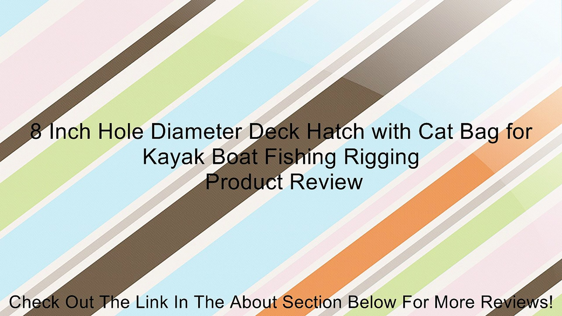 8 Inch Hole Diameter Deck Hatch with Cat Bag for Kayak Boat Fishing rigging New