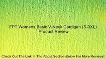 FPT Womens Basic V-Neck Cardigan (S-3XL) Review