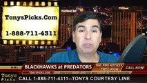 Nashville Predators vs. Chicago Blackhawks Game 5 Odds Free Pick Prediction Playoff Preview 4-23-2015