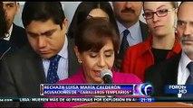 COCOA LUISA MARÍA CALDERÓN RECHAZA VÍNCULOS CON LA TUTA LIDER DE LOS CABALLEROS TEMPLARIOS