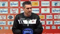 L1-J34 : CAEN-EAG : la conférence de presse d'avant match de J.Gourvennec