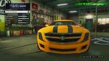 GTA 5 ONLINE - TRANSFORMERS CAMARO (BUMBLEBEE) CUSTOM CAR BUILD (GTA V Car Build)