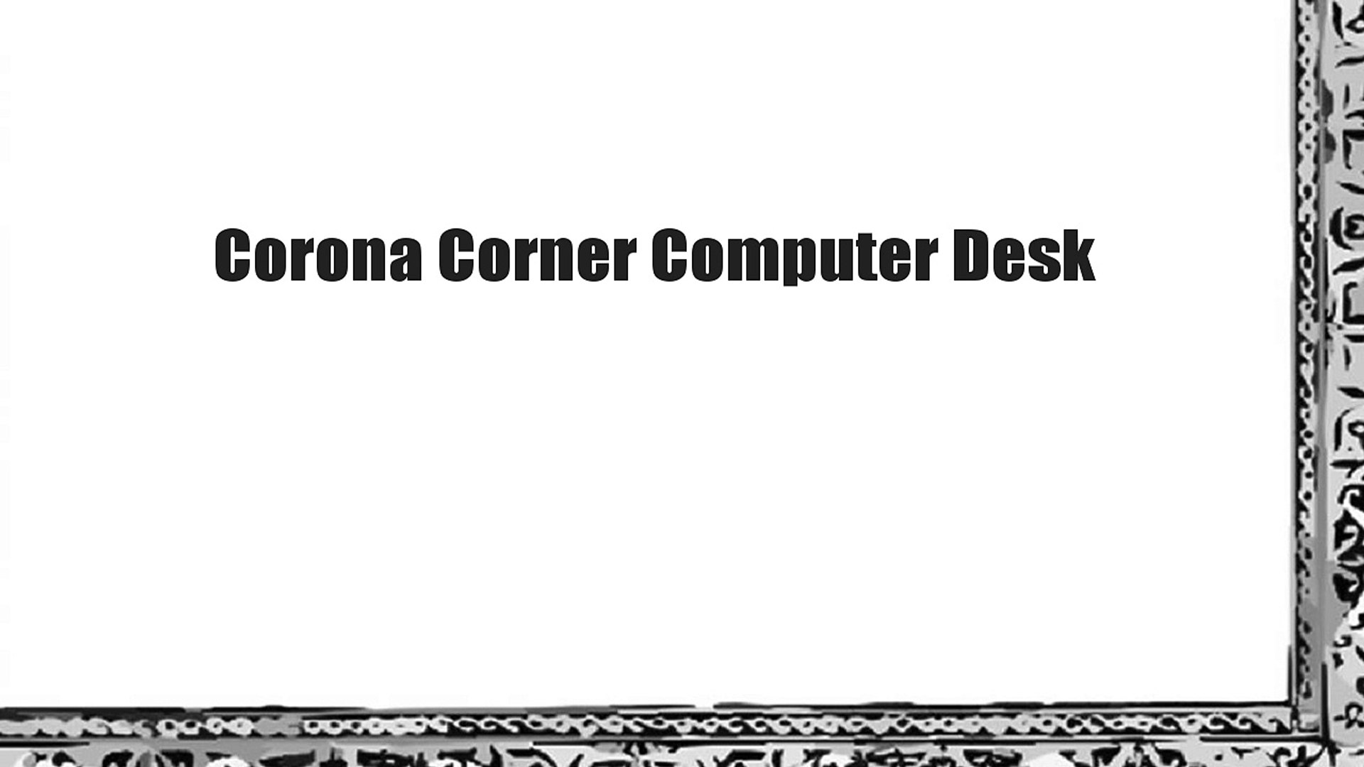 Corona Corner Computer Desk