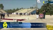 Obama in Israel: US President Barack Obama visits grave of Zionism founder Theodor Herzl