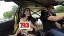 【一瞬です。放送事故? スーパーカーで揺れすぎて?】スバルのラリーカーで激走したので.....:Hot girls ride in SuperCars ! .