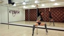 pole dance exotic. Учимся танцевать с пилоном! combination 2