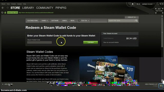 how to redeem steam wallet code