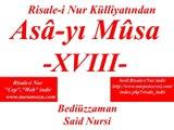 """Asa-yı Musa -XVIII- """"Risale-i Nur Külliyatı"""" """"Bediüzzaman Said Nursi"""""""
