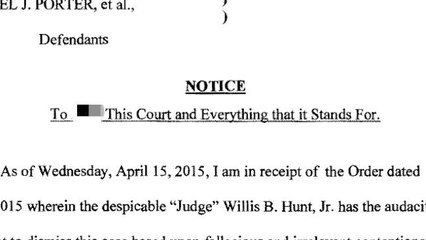 Woman files outrageous, profanity-laced court document