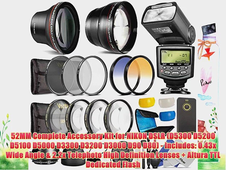 52mm Compatible Super HD Fisheye Lens for Nikon D5100 D3100 D3200 D5200 D3000 D5000 D3300 D5300