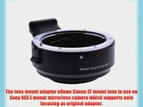 Neewer? EF-NEX II Auto Focus Lens Mount Adapter for Canon EF Lens to Sony NEX E-Mount Camera