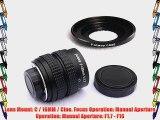 Fotasy M3517 35MM F1.7 TV Movie Lens and Lens Adapter Kit for Olympus Panasonic MFT Micro 4/3