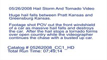 5/26/2008 Hail Storm Destroys Car and a Tornado Video