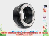 EzFoto Nikon Nikkor (Including G-Type AFS DX) Lens to Sony Alpha Nex E-mount Camera Adapter