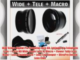 NEW 52mm Digital Pro Essential Lens Kit Includes 2x Telephoto Lens   0.45x HD Wide Angle Lens