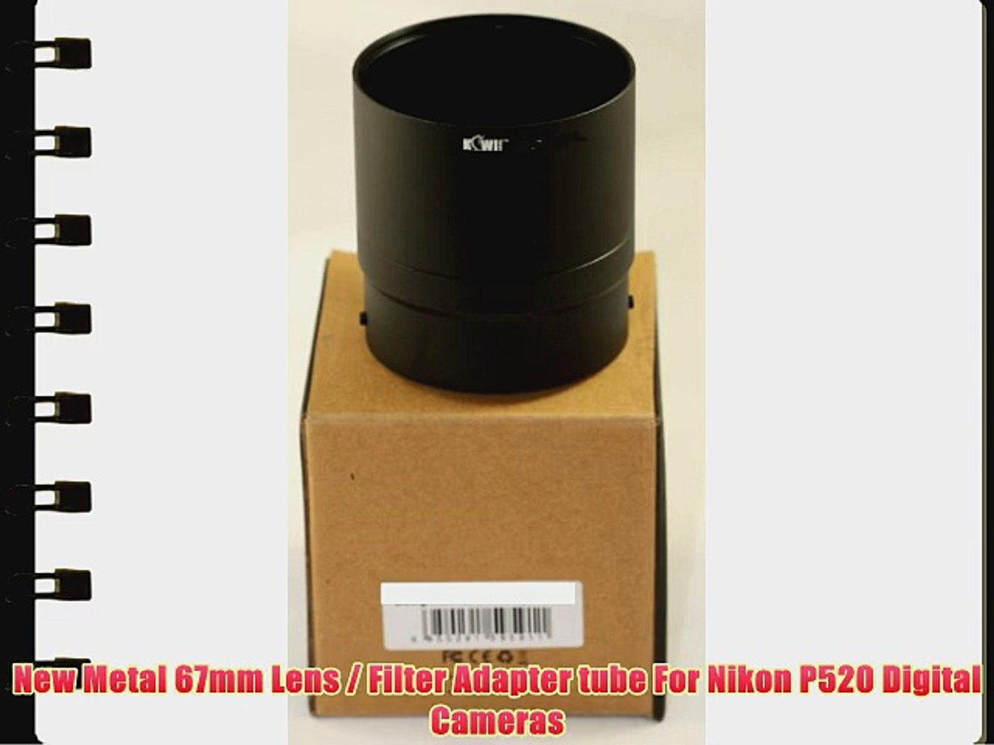 P520 Photo Plus 67mm Adapter Ring for Nikon Coolpix P510