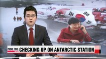 President Park checks up on Korea's Antarctic station while in Chile
