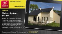 A vendre - maison - BEAUFORT EN VALLEE (49250) - 6 pièces - 145m²