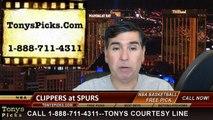 la clippers, san antonio spurs, game 3, nba playoff picks, nba pick, prediction, handicapping, odds