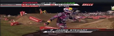 James Stewart Clearing Wall Jump + Crash Daytona Supercross 2011 HD
