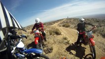 DIRTBIKING IN THE DESERT ON KTM 450XCW DUALSPORT ENDURO GOPRO HD