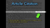 USF Library Tutorial- How to Read Citations and References